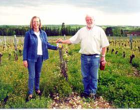Yves and Anne-Marie, the happy wine partners of Gradde row 20